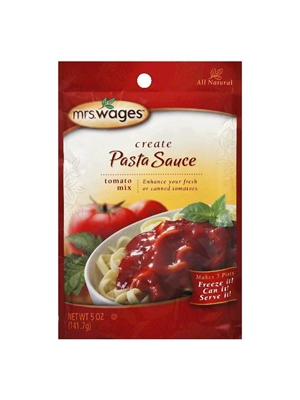 Mrs. Wages Create Pasta Sauce