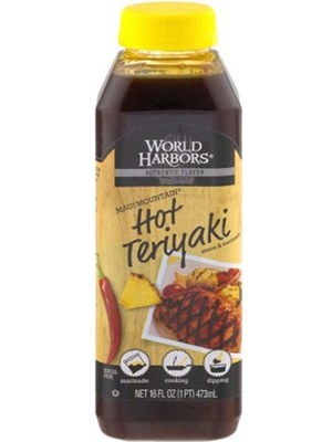 World Harbors Maui Mountain Hot Teriyaki Sauce & Marinade