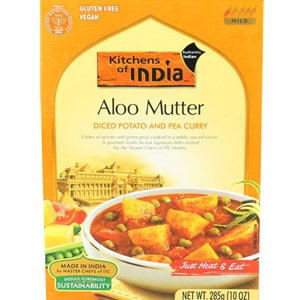 Kitchens of India Aloo Mutter Diced Potato & Pea Curry Dinner