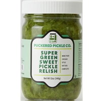 Puckered Pickle Co. Super Green Sweet Pickle Relish