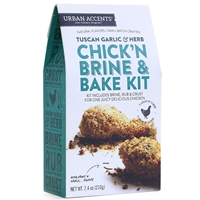 Urban Accents Tuscan Garlic & Herb Chick'n Brine & Bake Kit
