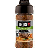 Weber Salt Free Burger Seasoning - 2.75 oz