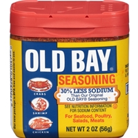 Old Bay 30% Less Sodium Seasoning 2 oz