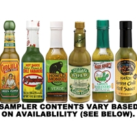 Green Pepper Hot Sauce Sampler